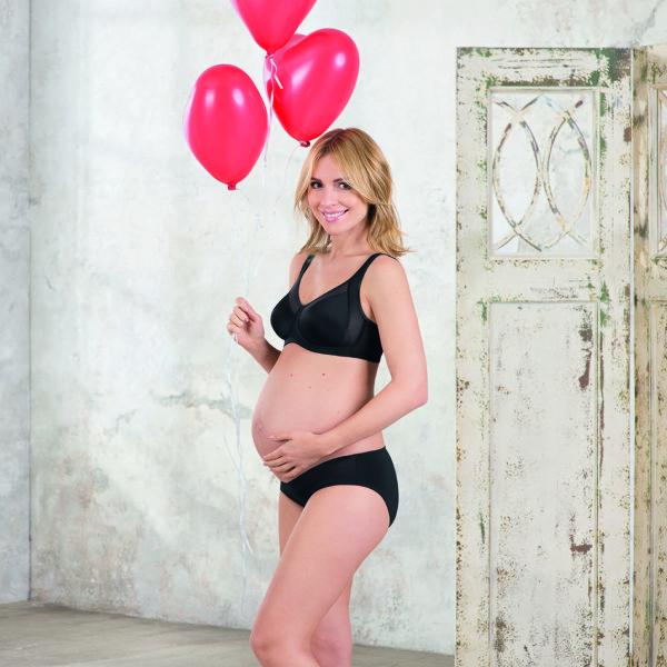 sujetador de embarazo sin aros color negro copa E