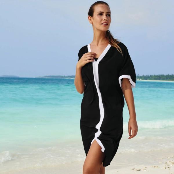 eac3ae8e3 vestido largo color negro y blanco modelo MORELLA