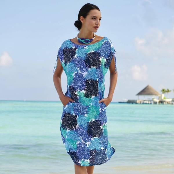 vestido modelo LUCCA color estampado azul océano.l