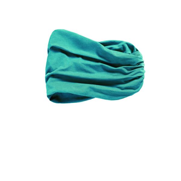 banda-pañuelo modelo CHITTA HEADBAND de bambú color azul océano